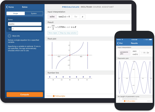 Precalculus Wolfram Course Assistant Image