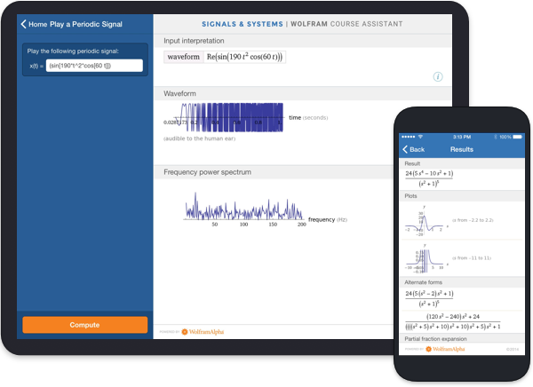 Wolfram Course Assistant Apps Signals Systems Homework Solutions Help
