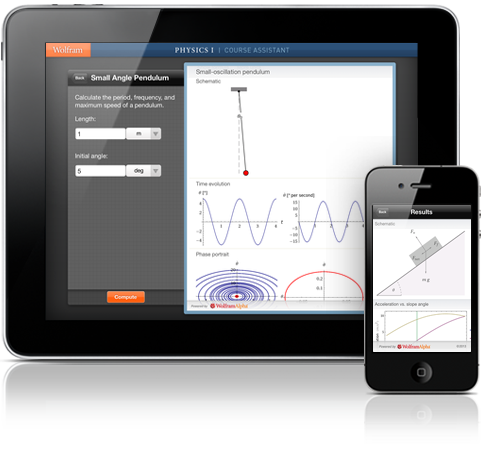 Wolfram Course Assistant Apps: Physics I Step-by-Step Homework Help