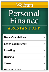 Wolfram Personal Apps: Personal Finance Assistant