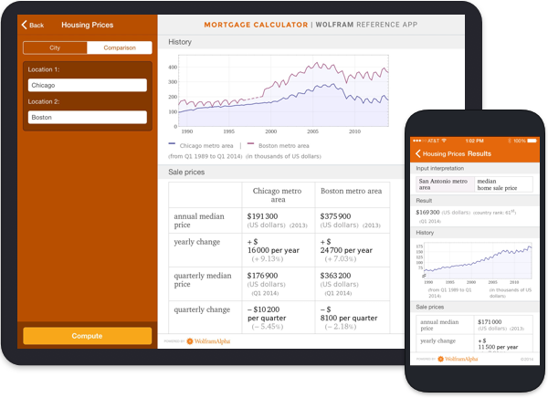 Mortgage Calculator Wolfram Reference App Image