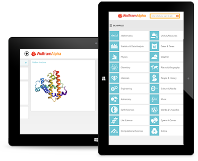 Wolfram|Alpha App for Windows Tablet